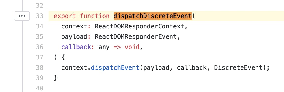 The Event Handling Method in the React Source.