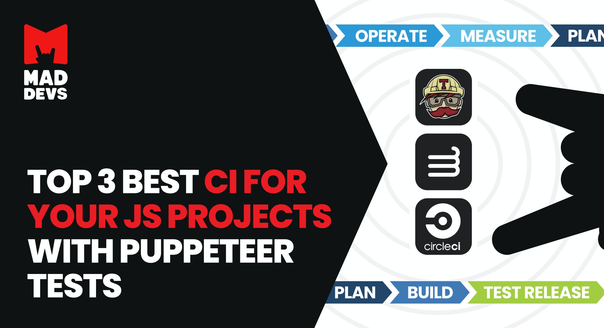 Top 3 best CI for your JS projects with Puppeteer tests