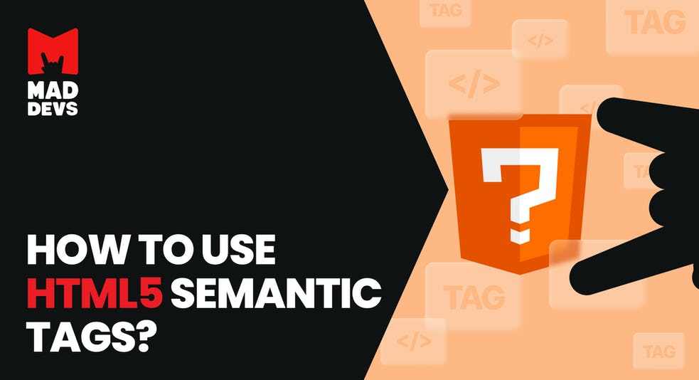 How to use HTML5 semantictags?