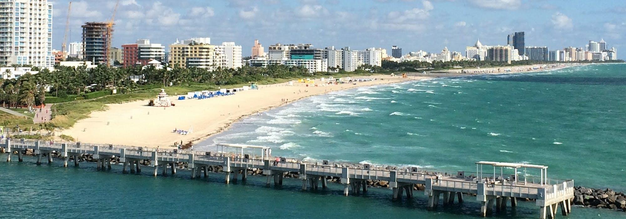 Bild från ovan på Miami Beach.
