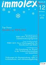 Publikation Immolex - Die Gewichtung von Werten in der Verkehrsermittlung von Immobilien