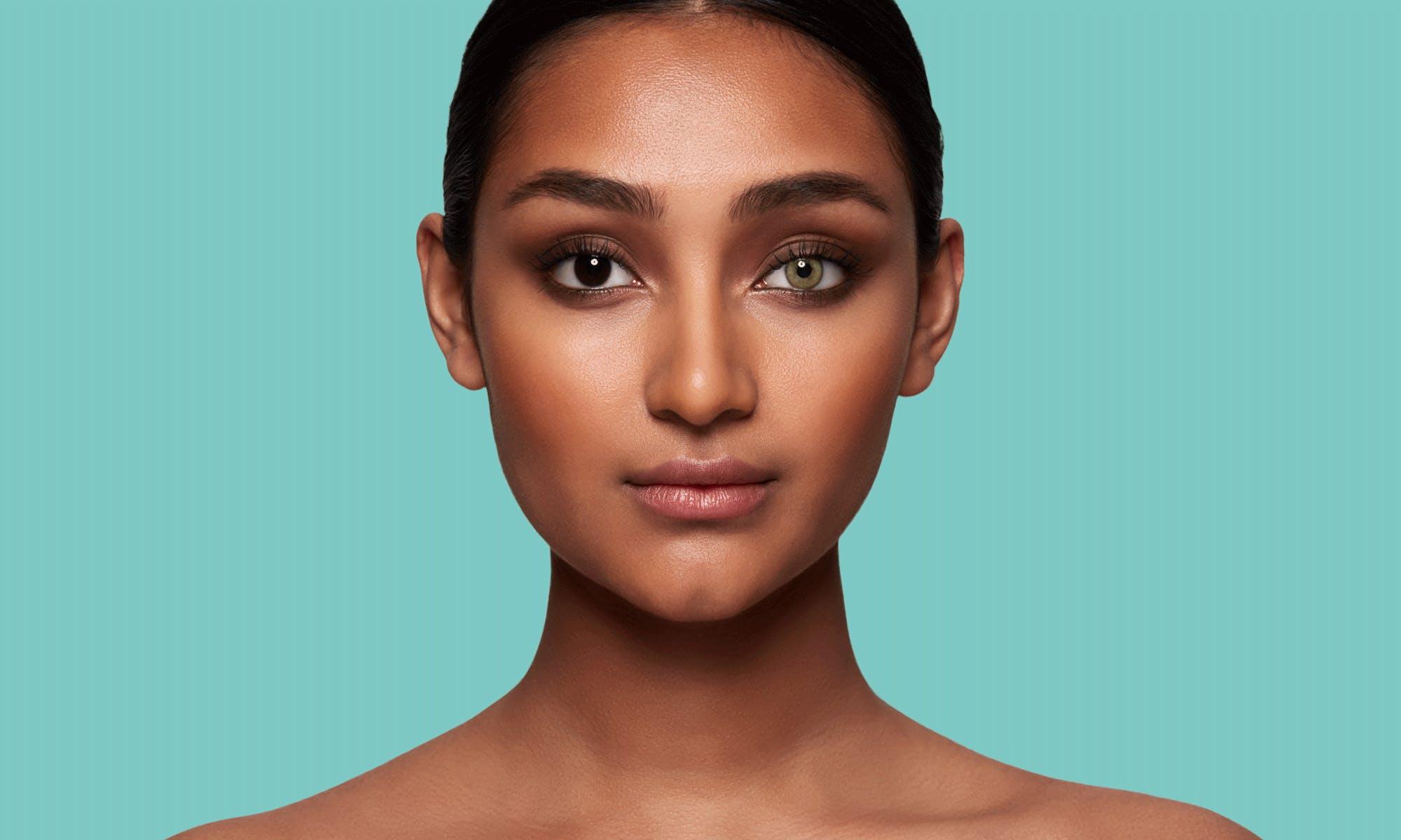 How do SWATI Green Coloured Jade lenses look on dark brown eyes?