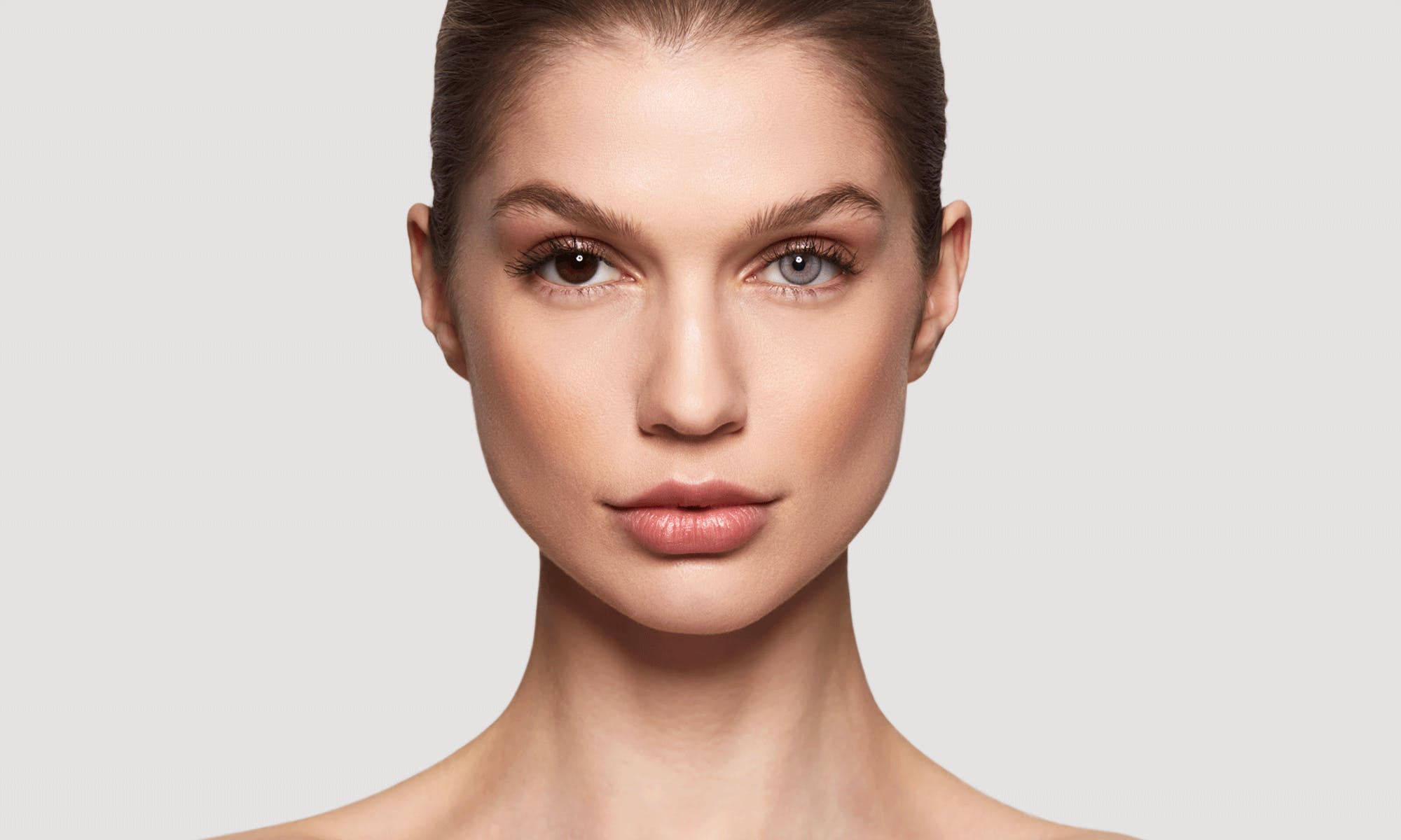 How do SWATI Grey Coloured Pearl lenses look on brown eyes?