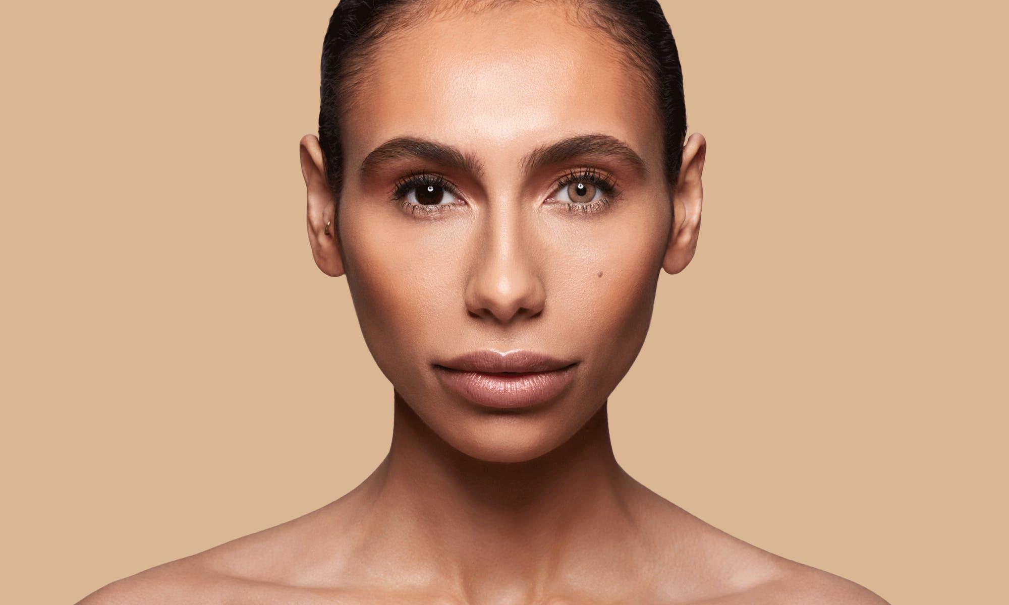 How do SWATI Brown Coloured Sandstone lenses look on dark brown eyes?