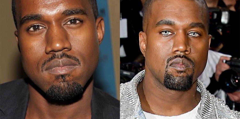Kanye West wearing grey coloured lenses