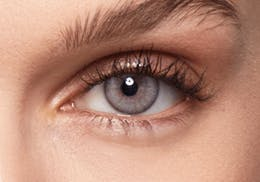 Brown eyes after wearing SWATI Pearl - Grey Coloured lenses