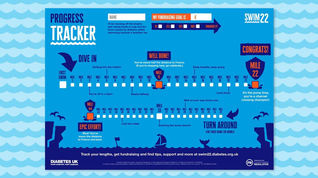 Swim22 Tracker Poster