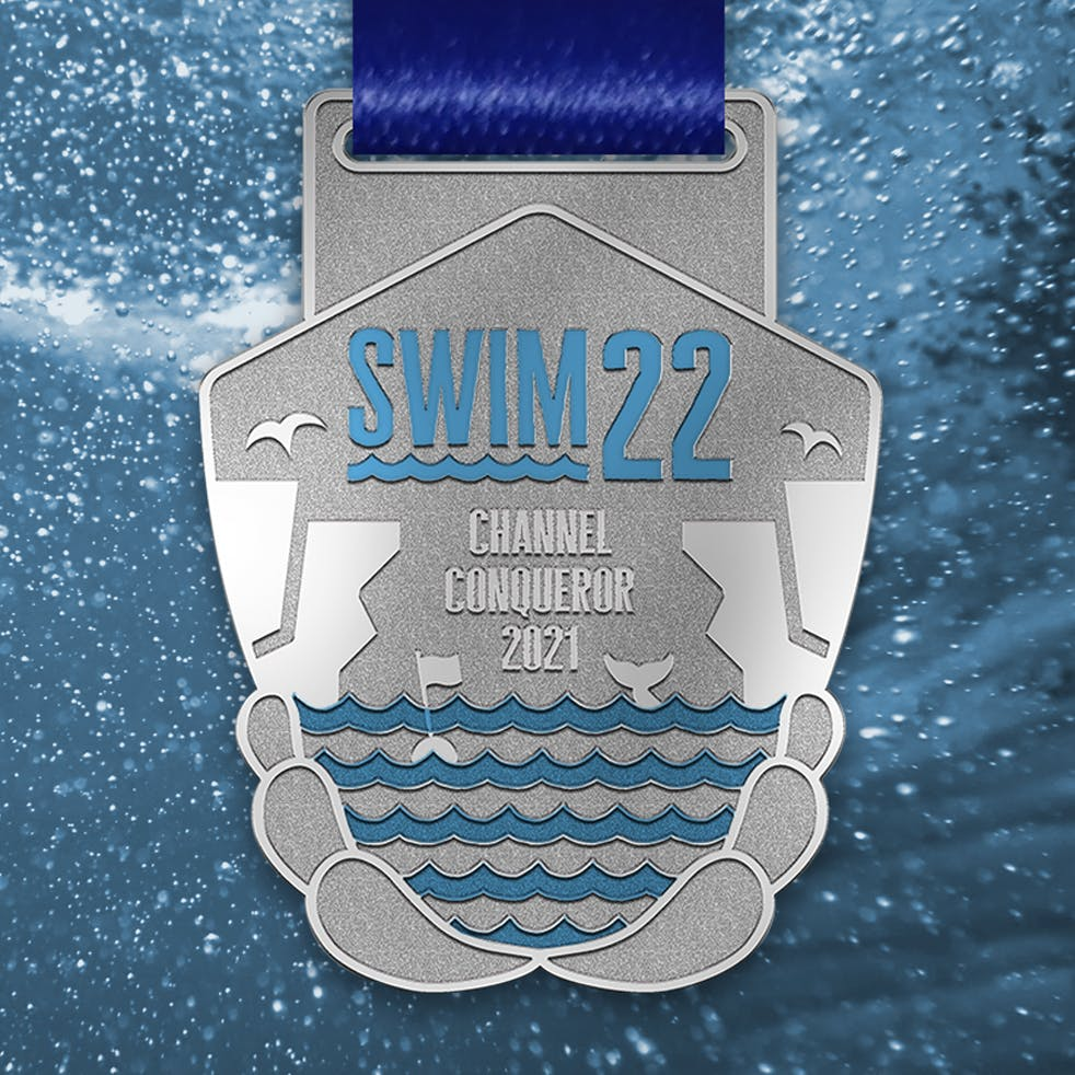 The Swim22 medal
