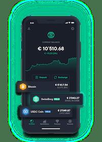 Swissborg App Main Screen