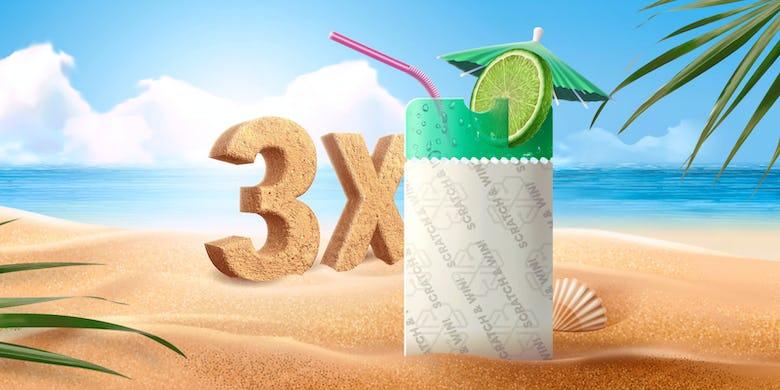 3X your rewards this summer!