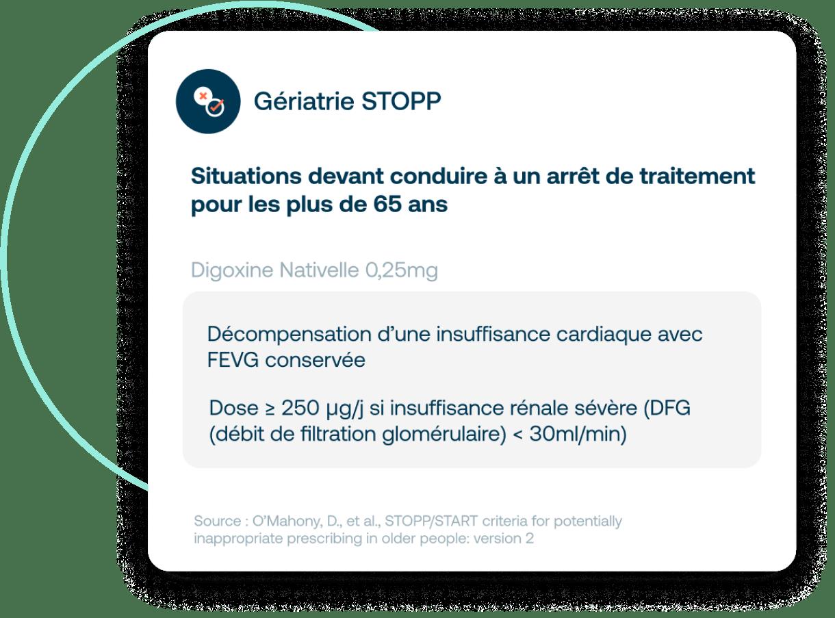 Critères STOPP dans Synapse Plateforme