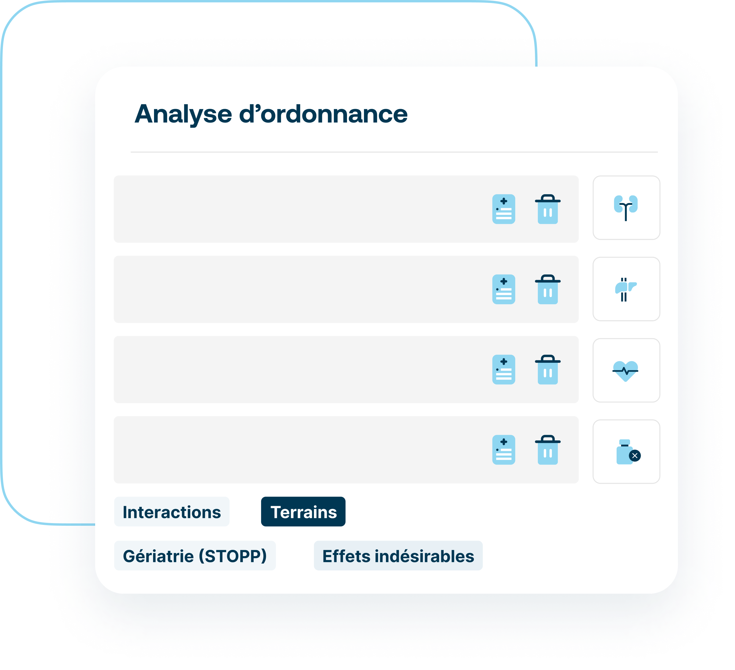 Le module Contre-Indications dans  l'analyse d'ordonnance de Synapse Plateforme