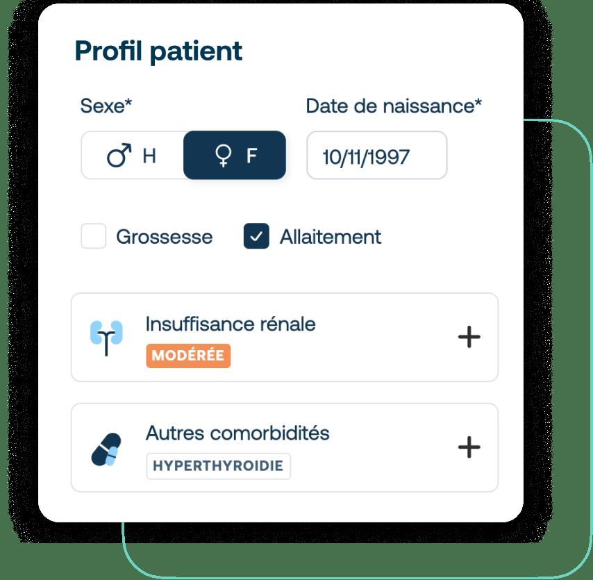 Saisir le profil patient avec Synapse Plateforme
