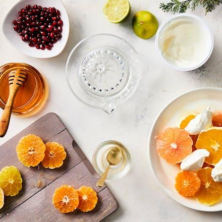Fruktsalat med gresk yoghurt