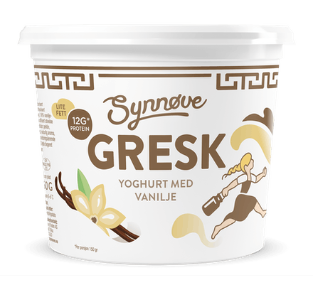 Gresk yoghurt med vanilje 750g