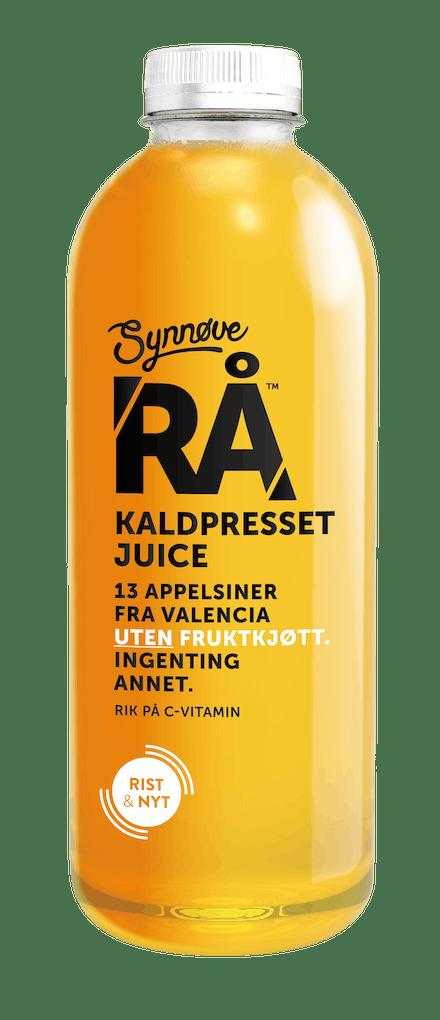 RÅ Kaldpresset Appelsin uten fruktkjøtt