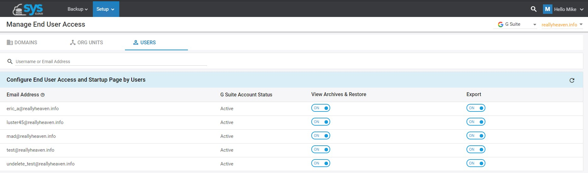 manage end user access