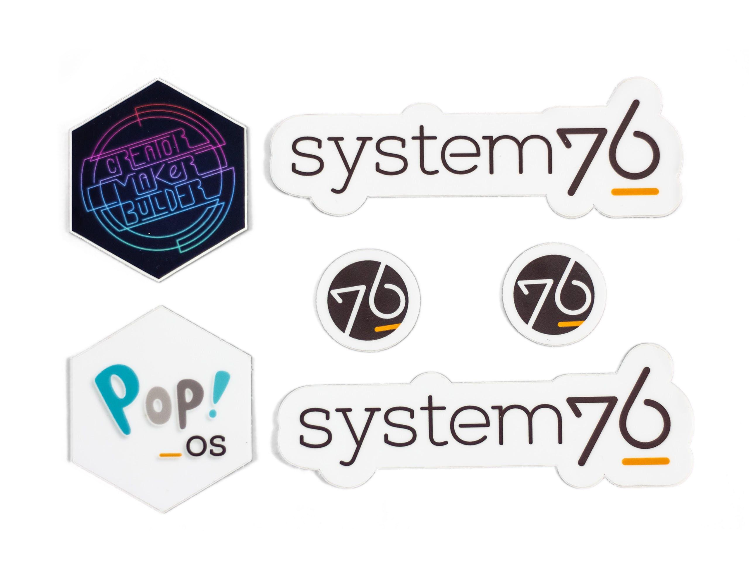 Free System76 + Pop!_OS stickers!