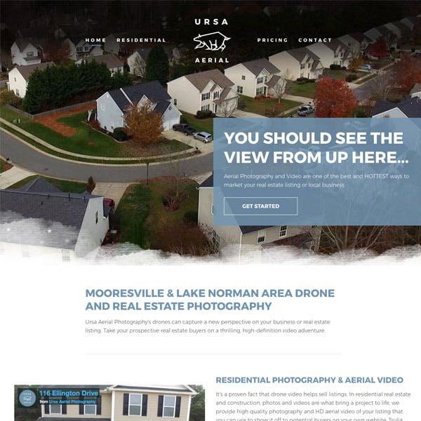 Portfolio Screenshot 1 for Ursa Aerial Photography
