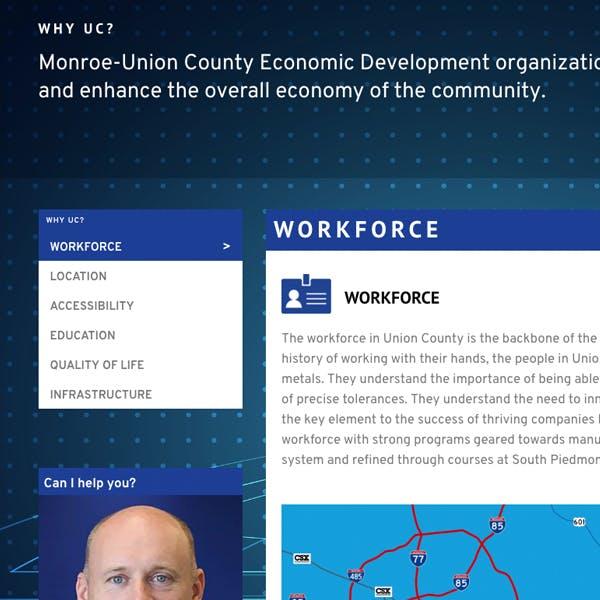 Portfolio Screenshot 2 for Monroe Union County Economic Development