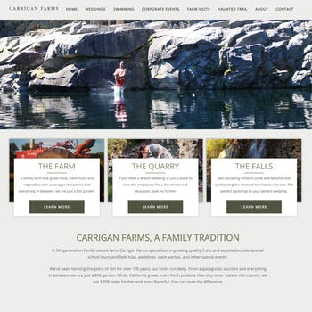 Portfolio Screenshot for Carrigan Farms