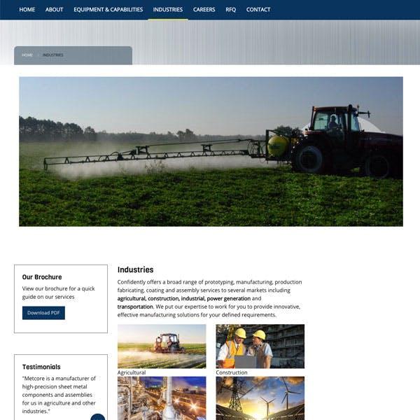 Portfolio Screenshot 4 for Metcore Industrial Solutions
