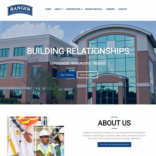 Portfolio Screenshot 1 for Ranger Construction