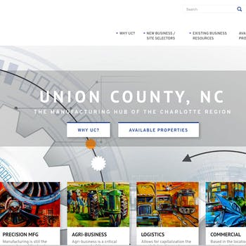 Portfolio Screenshot for Monroe Union County Economic Development