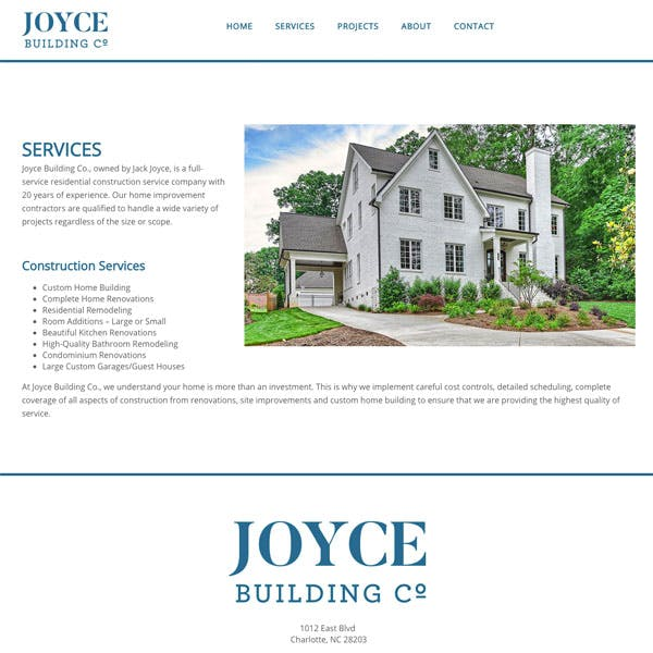 Portfolio Screenshot 4 for Joyce Building Co