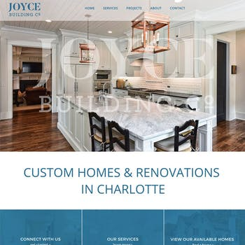 Portfolio Screenshot for Joyce Building Co