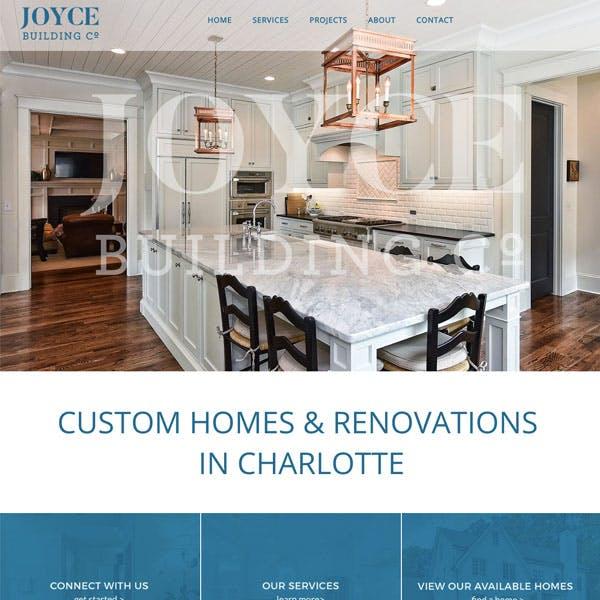Portfolio Screenshot 1 for Joyce Building Co