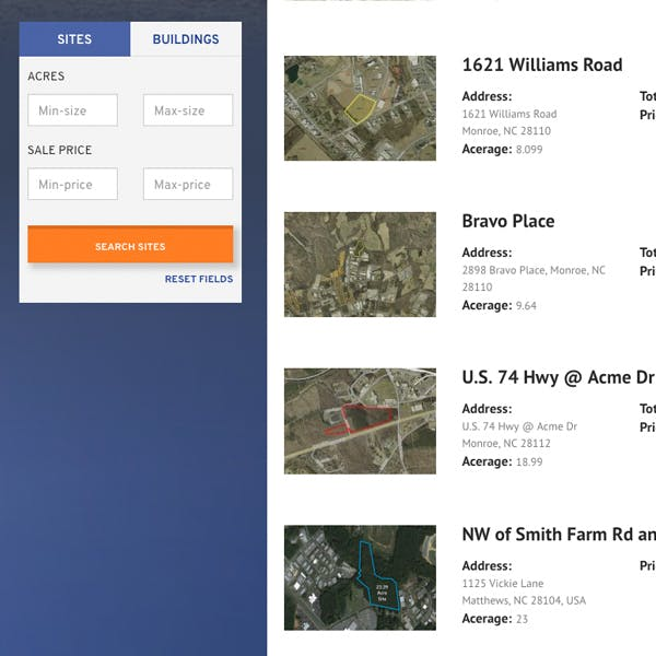 Portfolio Screenshot 3 for Monroe Union County Economic Development