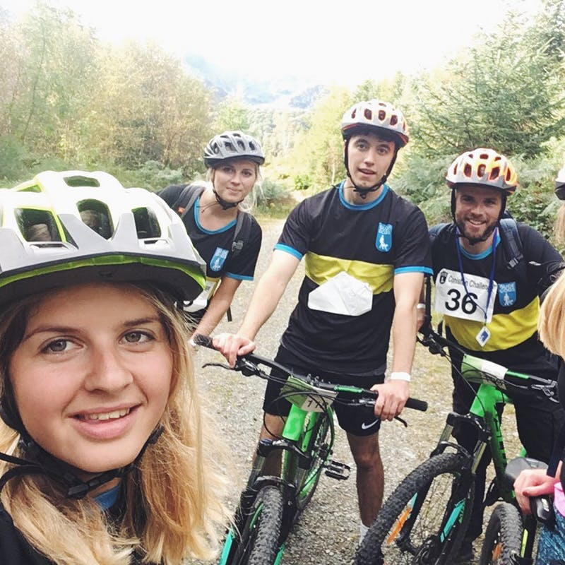 a selfie from Coniston challenge 2017