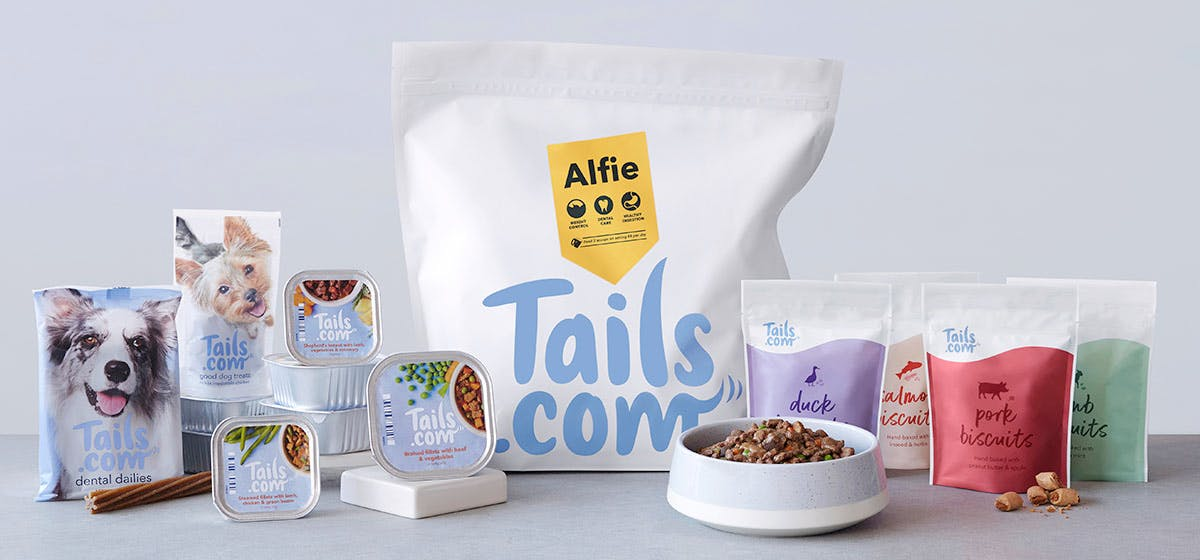 Full range of tails.com food and treats