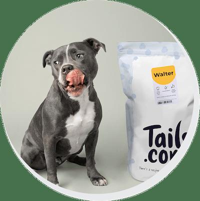 walter with food bag