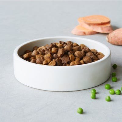dry dog food with sweet pea