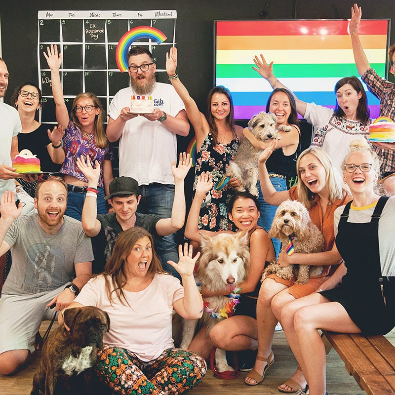 Our team celebrating pride