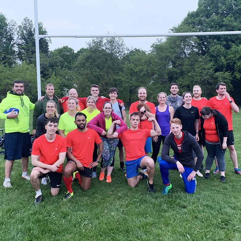 Mixed touch rugby team