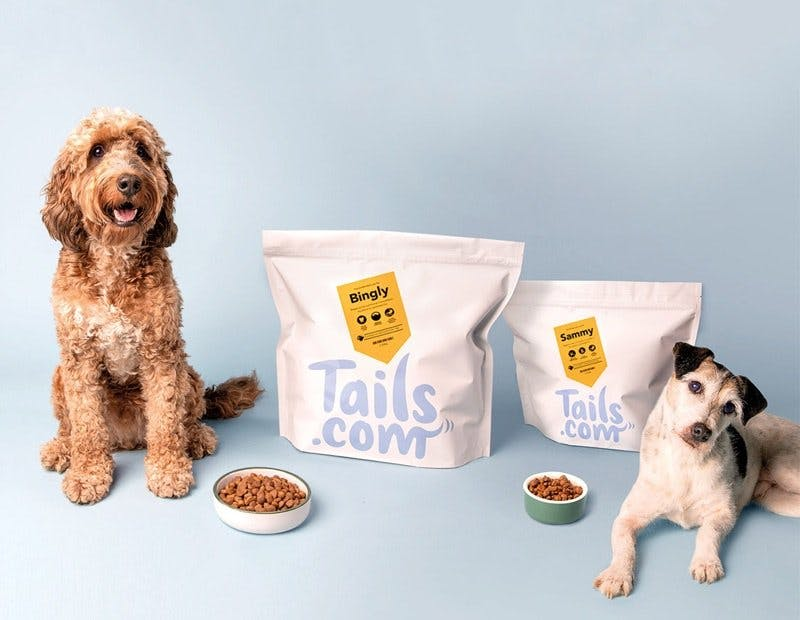 dogs posing with their tails.com tailor-made blends