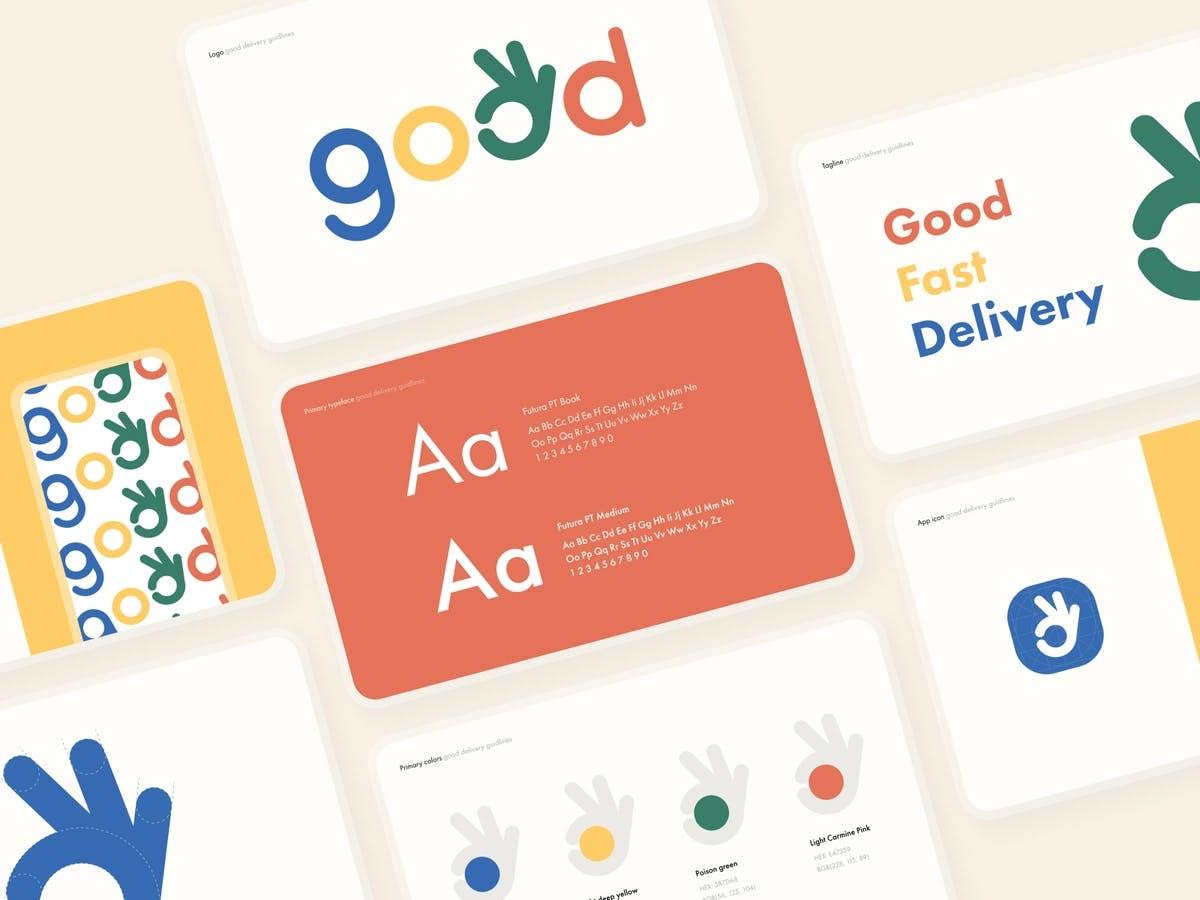 Image of website elements imitating a good web design