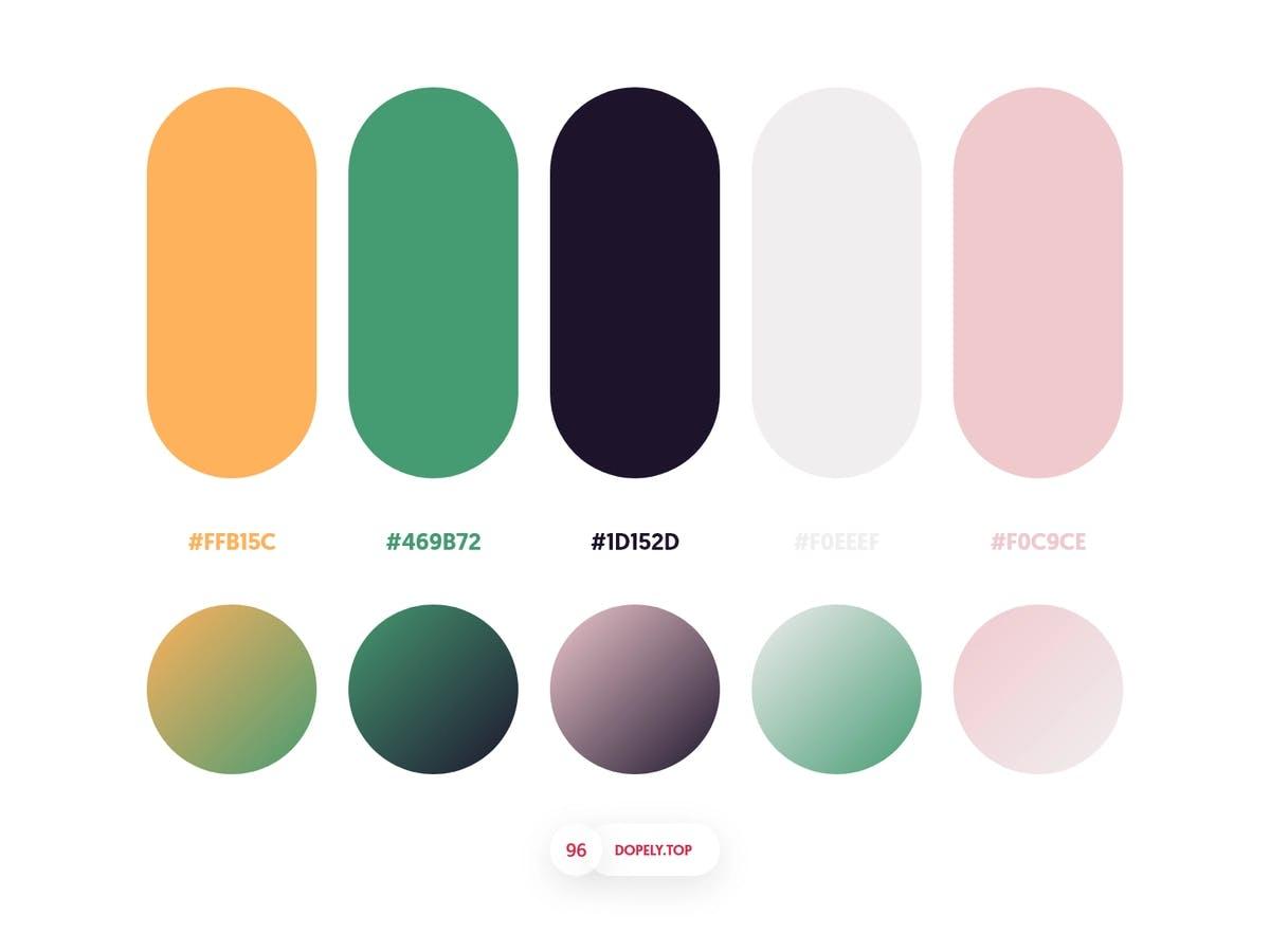 Image of different colour schemes