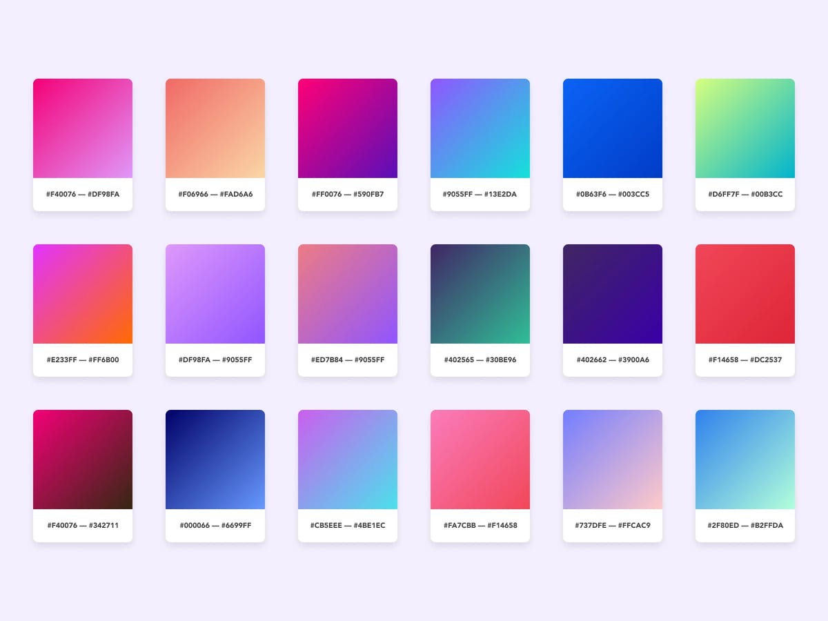 Image of different gradients