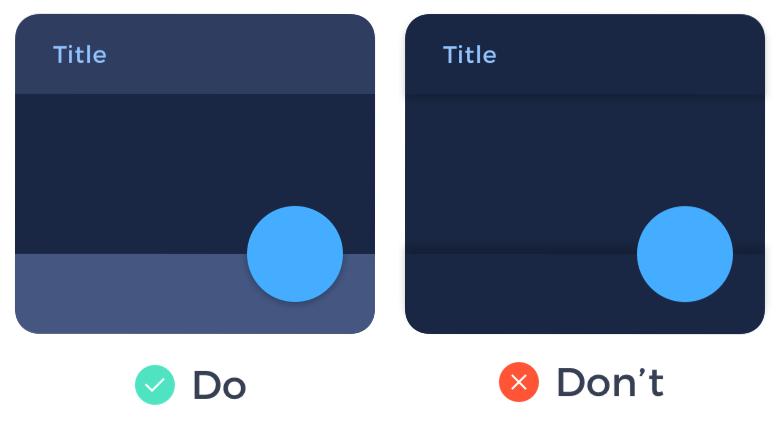 image explaining why not to use shadows