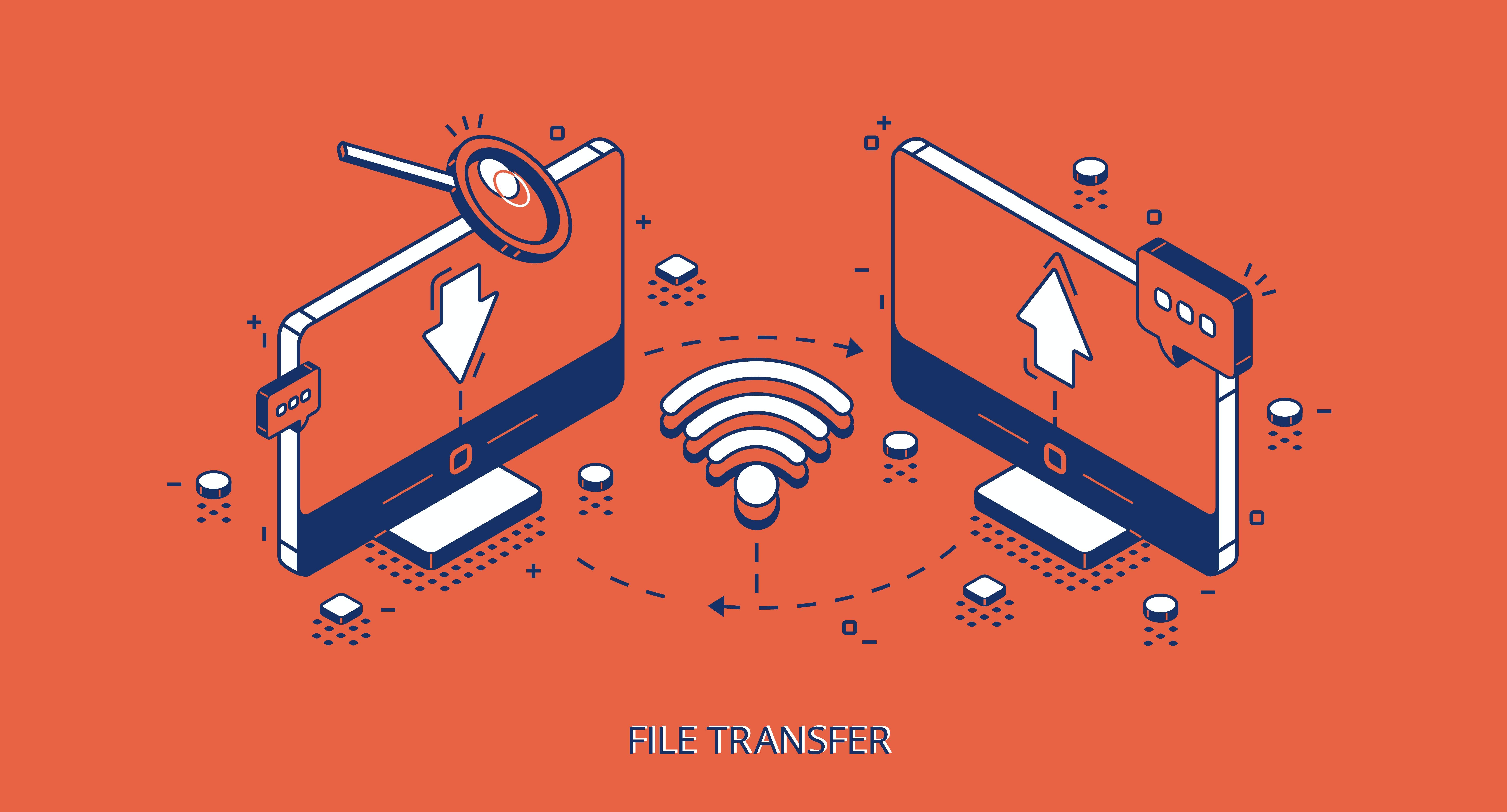 Image showing data transfer