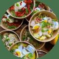 Bedrukte saladebowls