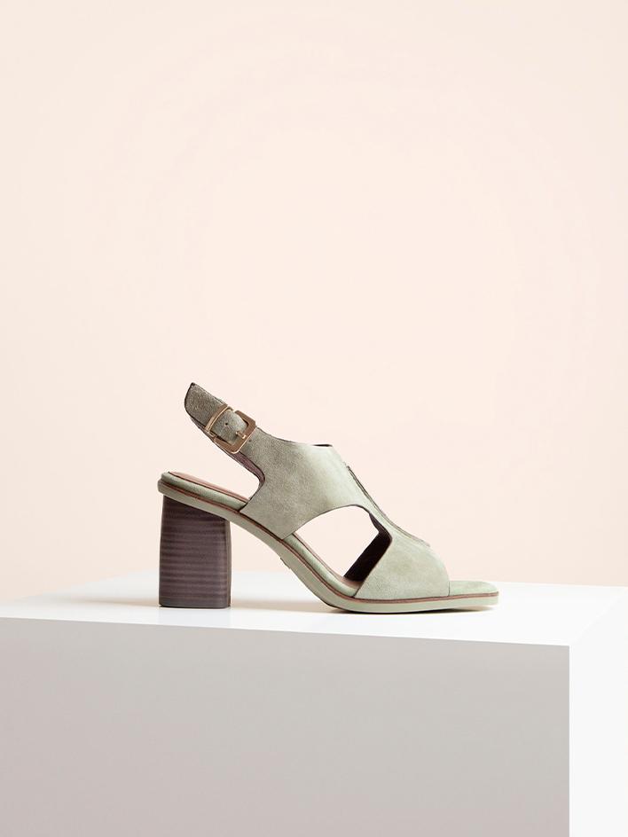 Tamaris H&S bézs pántos magassarkú cipő