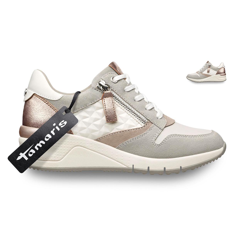Tamaris Sneakers Whitesilver Damer Sko Low århus På Nettet