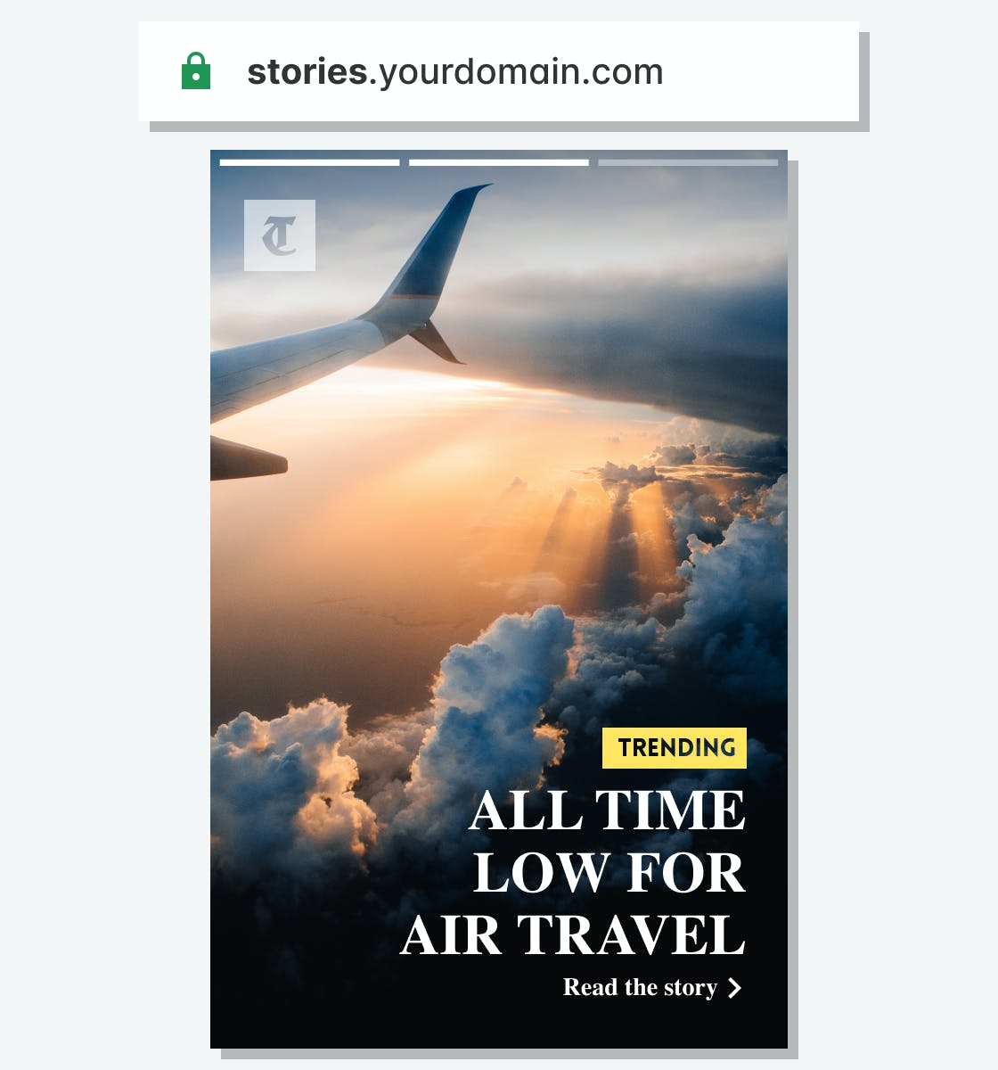 Image highlighting having your own domain when using Web Stories