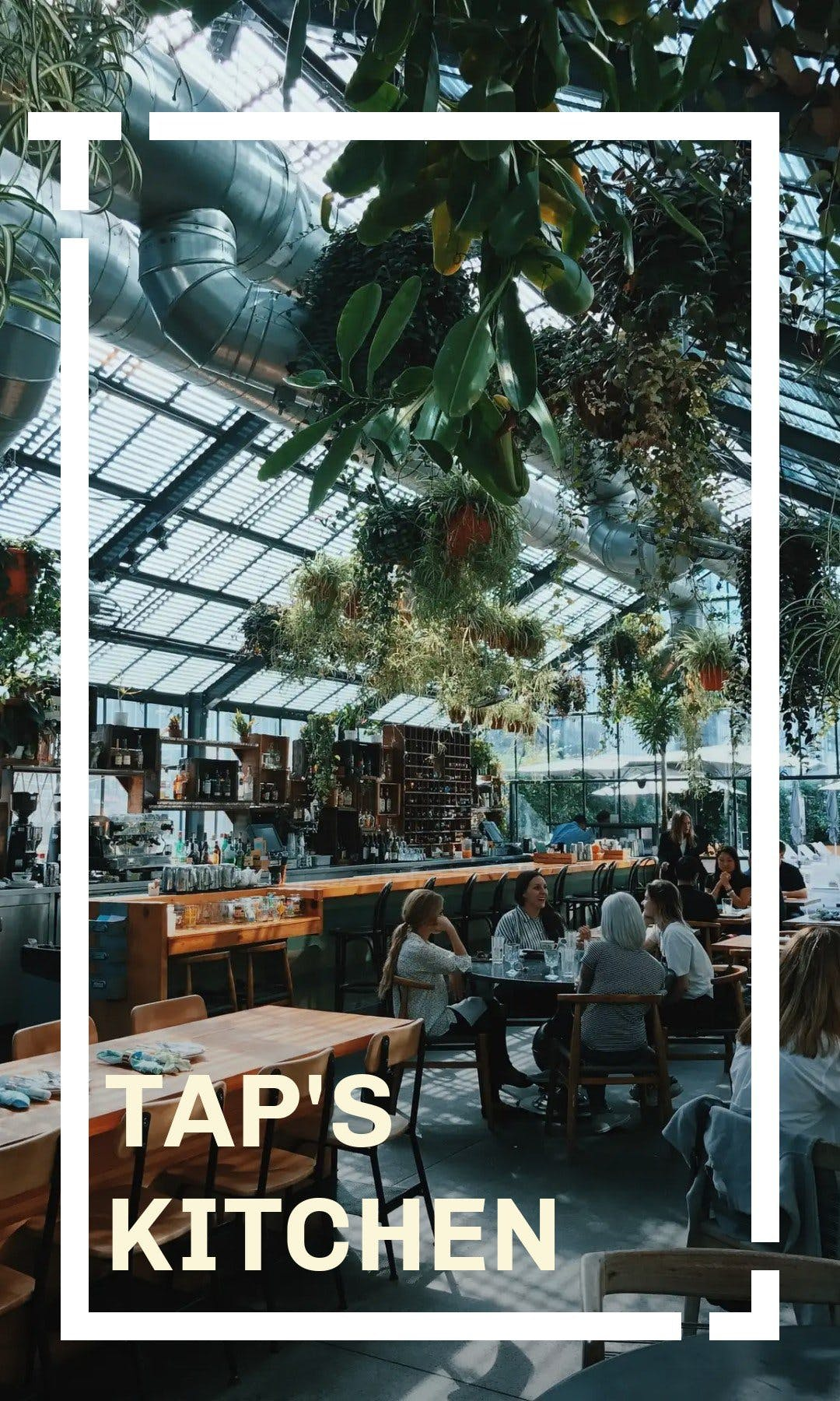 Tap's kitchen Menu cover