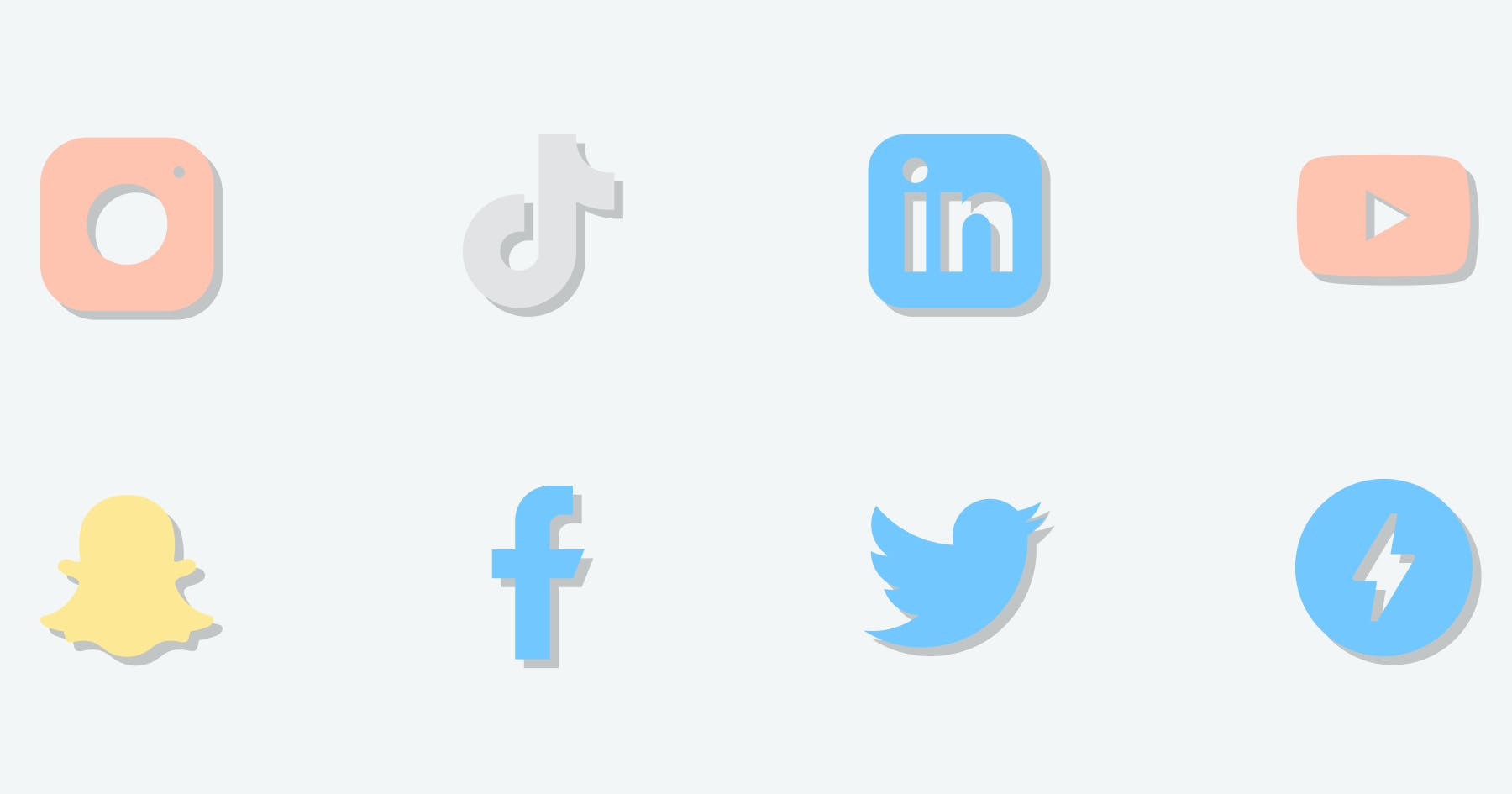 All the social media logo that produce stories